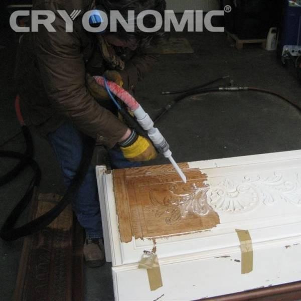 Restaurare Lemn cu Gheață Carbonică 6