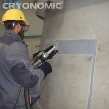 Gheață carbonică & modul abraziv în Construcții 9
