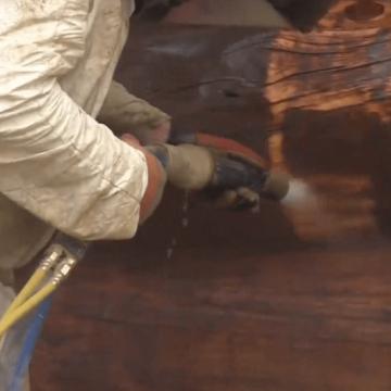 Curățare / Restaurare prin sablare umedă abrazivă 80